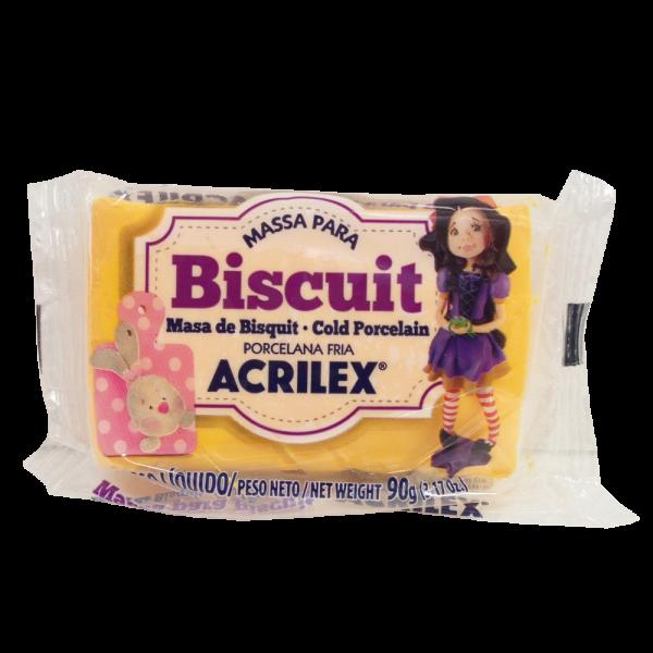 Massa para Biscuit Amarelo Cadmio Acrilex (90 g)