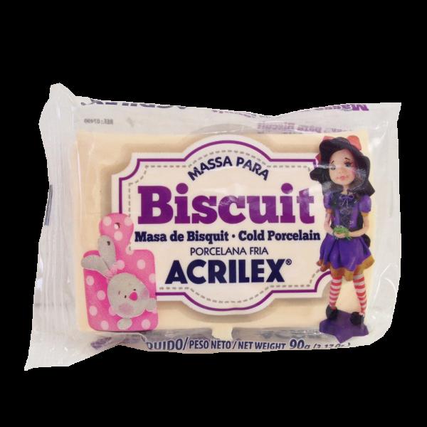Massa para Biscuit Amarelo Pele Acrilex (90 g)