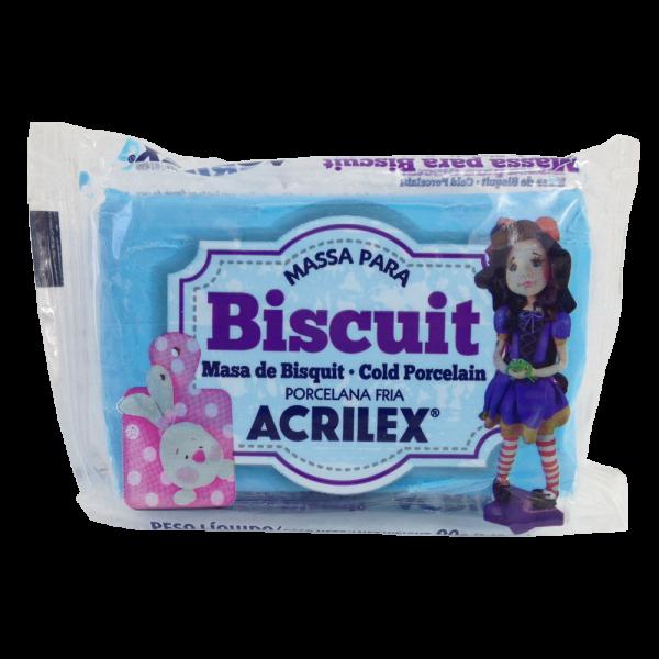 Massa para Biscuit Azul Celeste Acrilex (90 g)