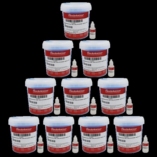 Borracha De Silicone Azul Alta Flexibilidade para Moldes Com Catalisador (10,30 Kg)