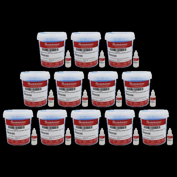 Borracha De Silicone Azul Alta Flexibilidade para Moldes Com Catalisador (12,360 Kg)