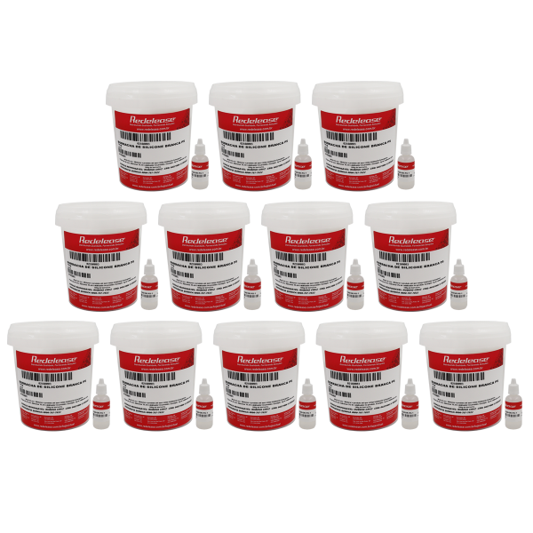 Borracha De Silicone Branca Alta Flexibilidade para Moldes Com Catalisador 12,360 Kg