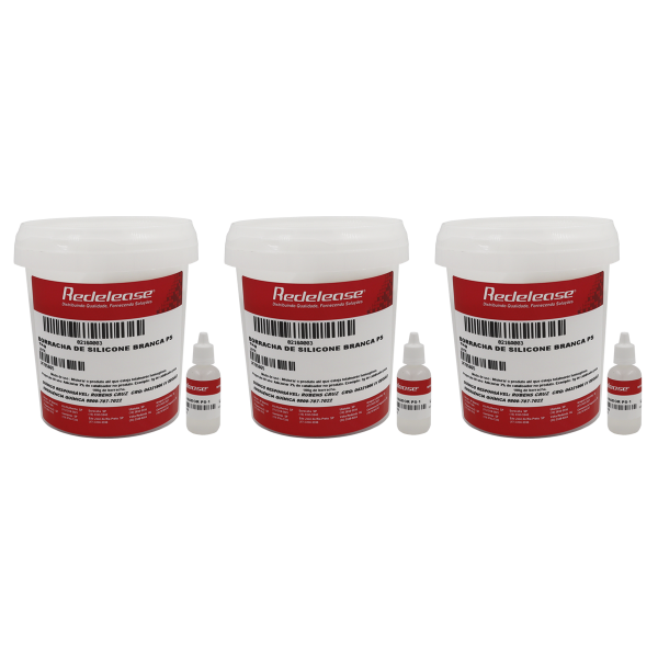 Borracha De Silicone Branca Alta Flexibilidade para Moldes Com Catalisador 3,090 Kg