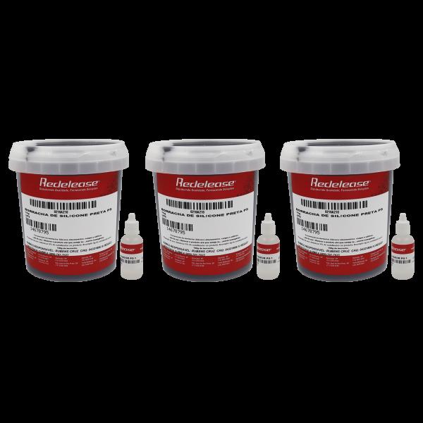Borracha De Silicone Preta Rígida para Pneus Miniatura Com Catalisador (3,150 Kg)