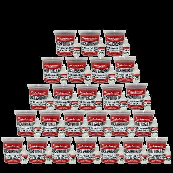 Borracha De Silicone Vermelha Rígida para Fundição Com Catalisador (25,200 Kg)