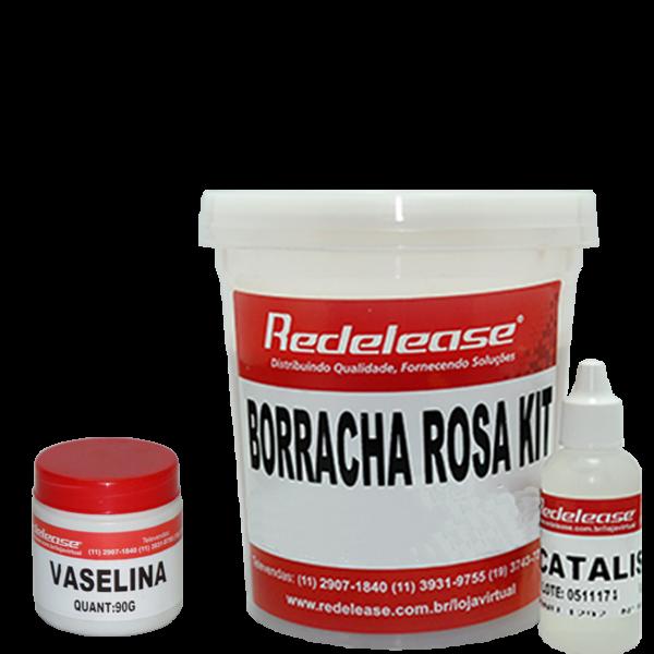 Kit Borracha De Silicone Rosa C/ Catalisador + Vaselina