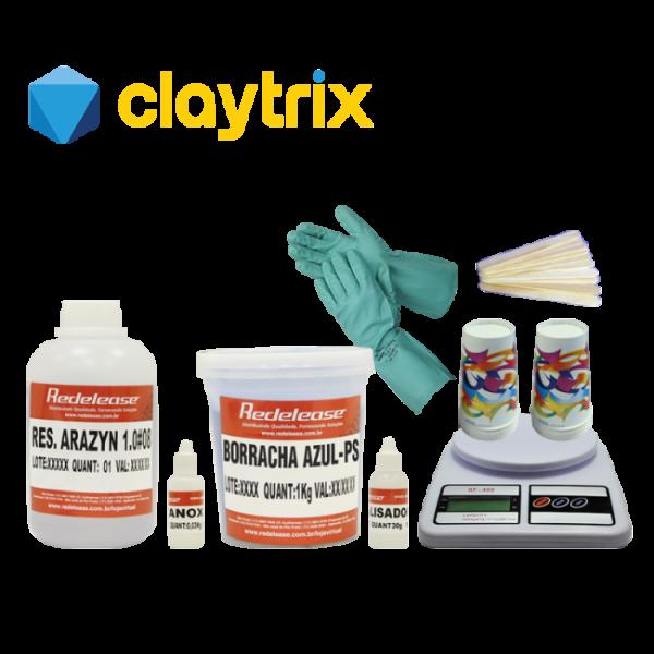 Kit Curso de Moldes em Silicone Redelease - Claytrix