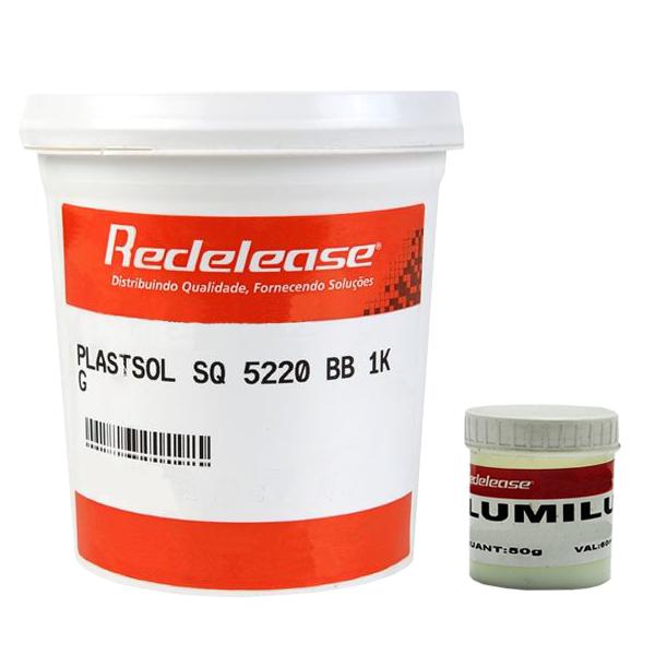 Kit Plastisol SQ 5220 +  Pigmento Lumilux Para Fabricação De Isca Glow
