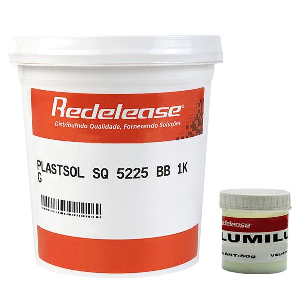 Kit Plastisol SQ 5225 + Pigmento Lumilux Para Fabricação De Isca Glow