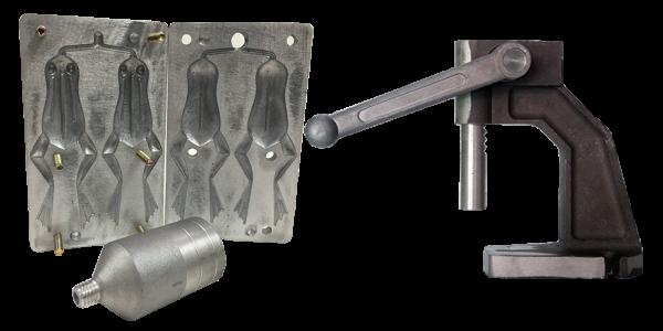 Kit Prensa Injetora + Forma de alumínio Sapo Frog