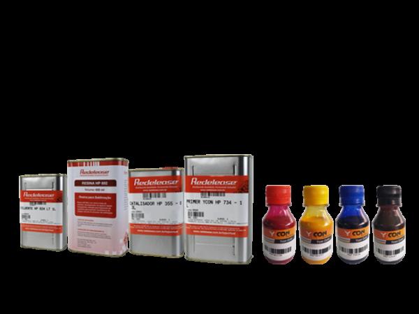 Kit: Resina Sublimação HP 692 + Diluente + Promotor De aderência (Superfícies Rígidas) + Todas As Tintas Sublimáticas