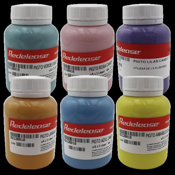 Kit TODOS os Pigmentos Candy Colors (Tons Pastéis)