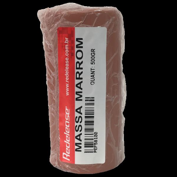 Massa De Modelar Plastilina: Marrom [0,500 Kg]