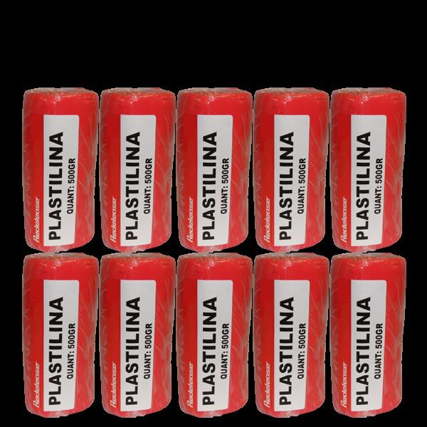 Massa De Modelar Plastilina Vermelha Terracota 5 Kg (10 Un)