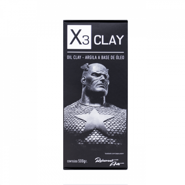 X3 Oil Clay Extra Hard Cinza [0,500 Kg]