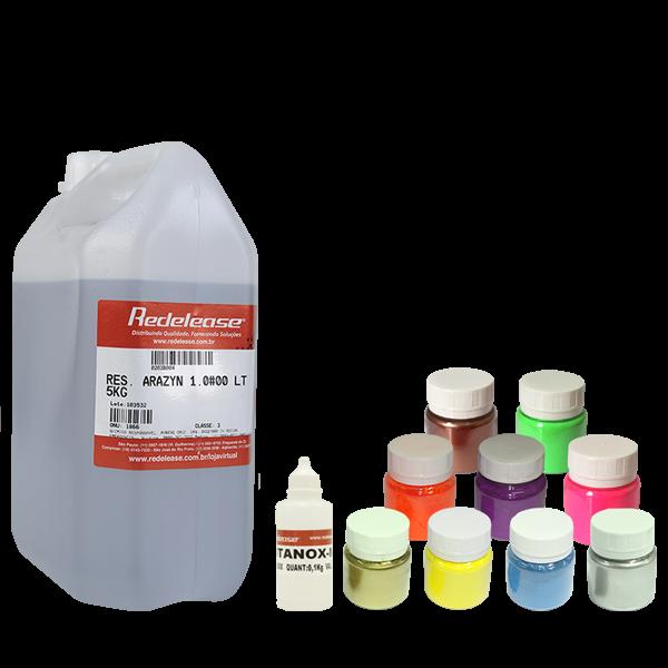 Resina: Cristal de Alta Viscosidade (Com Catalisador) + TODOS os Pigmentos Fluorescentes