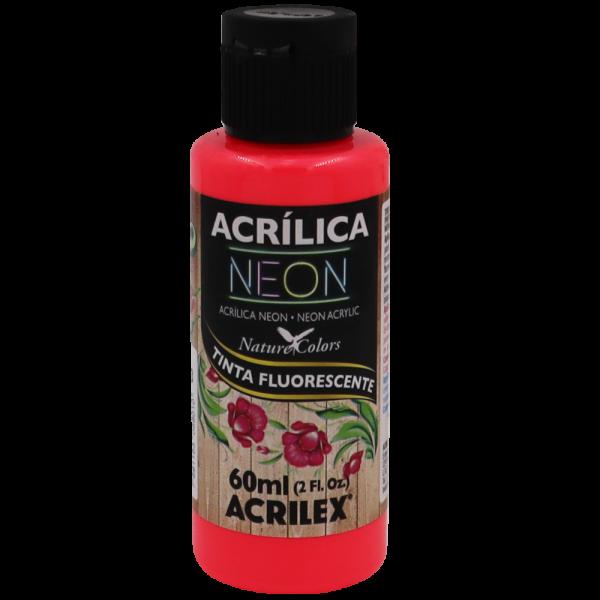 Tinta Acrílica Vermelho Neon (60ml)