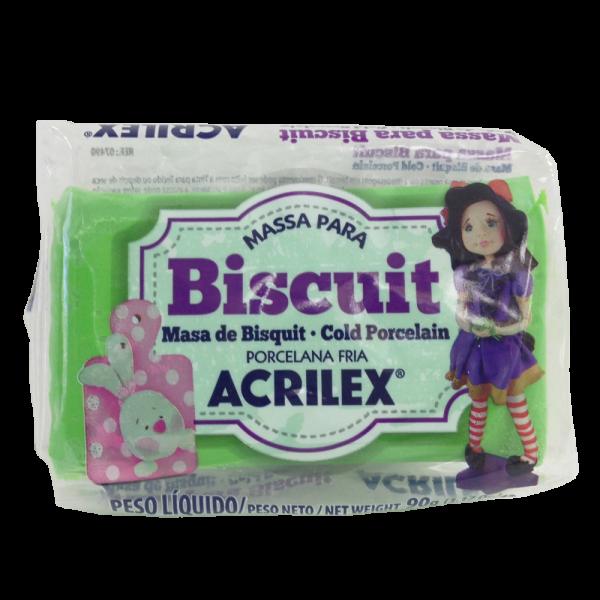 Massa para Biscuit Verde Musgo Acrilex (90 g)
