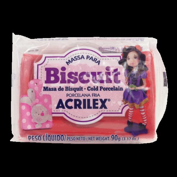 Massa para Biscuit Vermelho Acrilex (90 g)