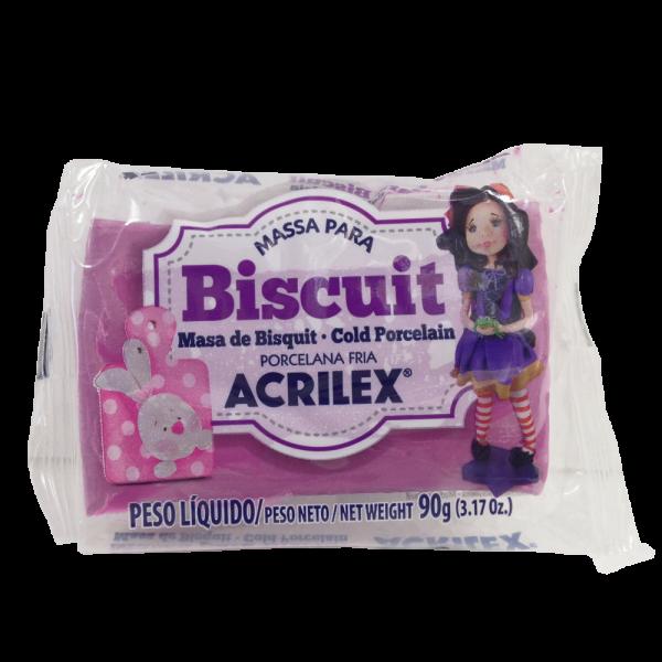 Massa para Biscuit Vinho Acrilex (90 g)